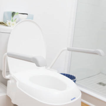 Invacare Raised Toilet Seat with handles