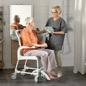 Etac Clean shower Commode Chair with Wheels