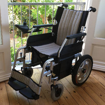 Electric Wheelchair, Foldable with Dual Battery
