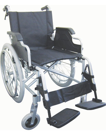 Deluxe Lightweight Wheelchair, Detachable Footrest & Flip up Arms