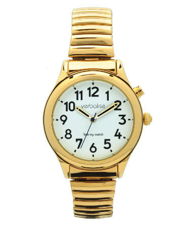 Verbalise Ladies Talking Watch in Gold