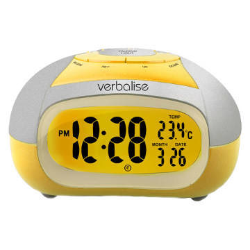 talking clock alarm verbalise blind impaired visually clocks temperature female reizen voice display amazon analog atomic clients personal