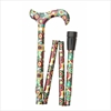 Fashion Folding Derby Walking Stick, Red & Green Circles