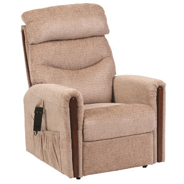 Santana Fabric Electric Rising Recliner Chair with Dual Motor