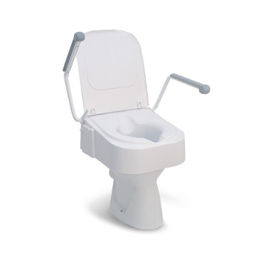 Adjustable Raised Toilet Seat with Handles, Drive Medical