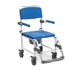 Aluminium Shower Commode Chair with Wheels