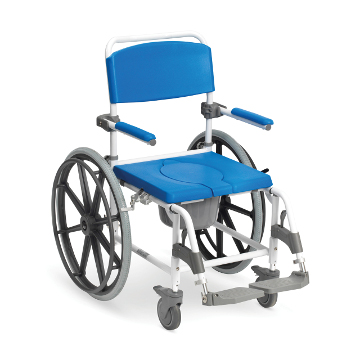 Self-Propelled Aluminium Shower Commode Chair