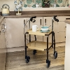 Height Adjustable Strolley Trolley with Brakes