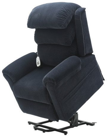 Dual Motor Electric Recliner Chair | Walmesley Blue