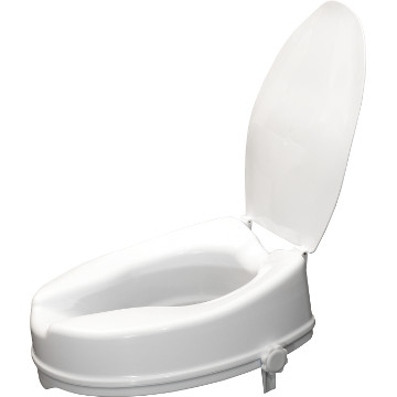 Raised Toilet Seat with Lid | 10 cm
