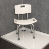 Height Adjustable Shower Chair with Back