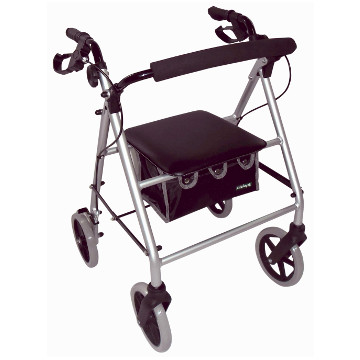 Large Wheel Rollator with Loop Brakes | Silver