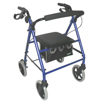 Large Wheel Rollator with Loop Brakes | Blue
