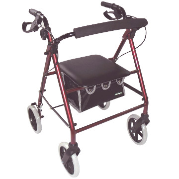 Large Wheel Rollator with Loop Brakes | Red