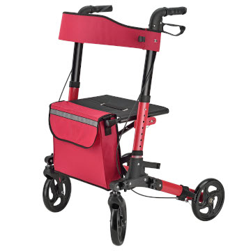 Foldy Easy Folding Lightweight Rollator | Red