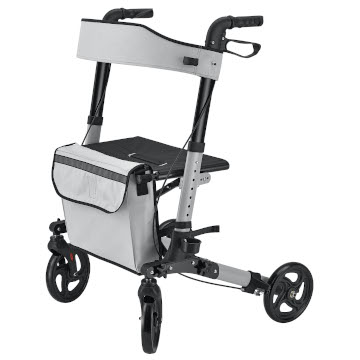Foldy Easy Folding Lightweight Rollator | Grey