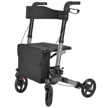 Foldy Easy Folding Lightweight Rollator | Titanium